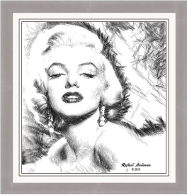 Marilyn Monroe - The One and Only Artist Rafael Salazar Copyright 2013 - All rights reserved.
