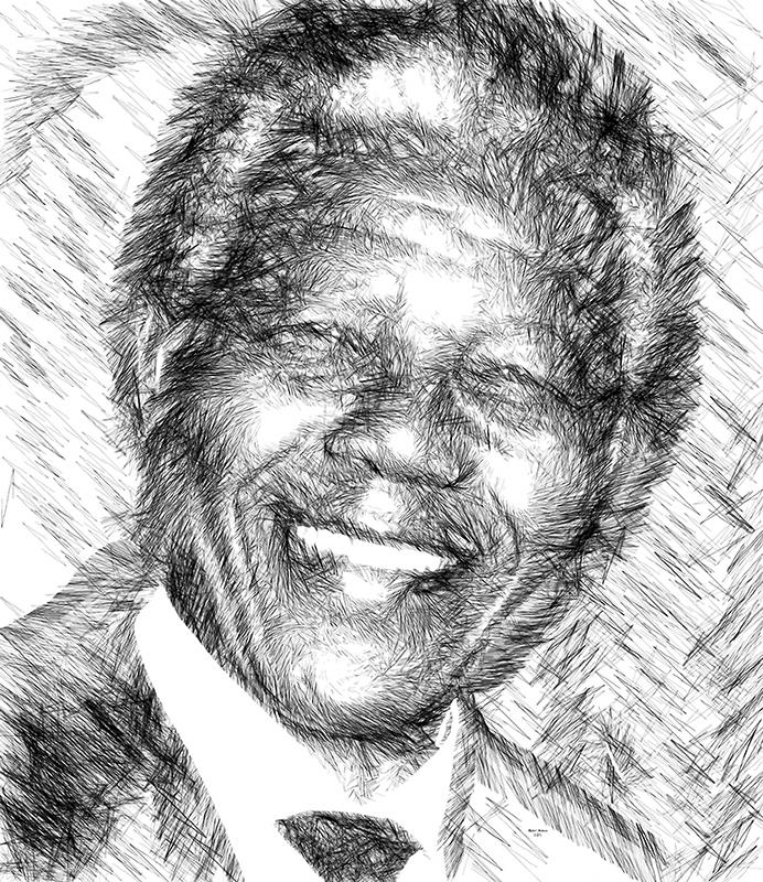 Nelson Mandela © Art by Rafael Salazar