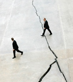 CRACKED OPEN | Shibboleth, Doris Salcedo's 2007 installation in the Turbine Hall of London's Tate Modern Shaun Curry/AFP/Getty Images