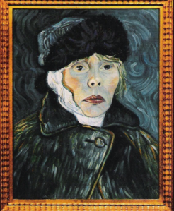 "Joni Mitchell's 1955 self-portrait cover of her album ""Turbulent Indigo"""