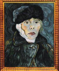 "Joni Mitchell's 1955 self-portrait cover of her album ""Turbulent Indigo"""