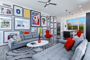 Every space needs a touch of wall art. Image Via: House & Homes Palm Springs Home Staging