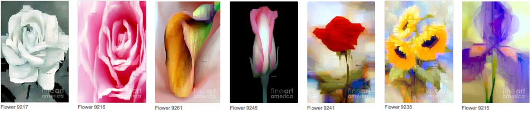 Abstract Flower Paintings by Rafael Salazar ©2016