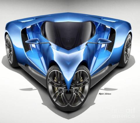Blue Car 01 by Rafael Salazar 2016