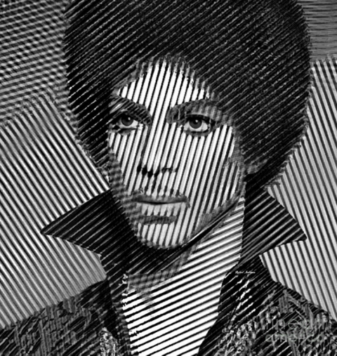 Prince - Tribute In Black And White Sketch by Rafael Salazar © 2015