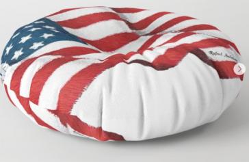 USA_USA_USA_by_Rafael_Salazar_floor_pillow