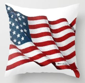 USA_USA_USA_by_Rafael_Salazar_throw_pillow